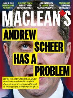 The June 2019 cover of Maclean's magazine.   Maclean.ca